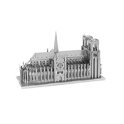 Metal Earth Fascinations Iconx Notre Dame De Paris And Iconx Taj Mahal Puzzle In Metallo 3d Giocattoli Da Costruzione Modelli Di Taglio Laser