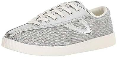 TRETORN Women's NYLITE17PLUS Sneaker, Silver, 4 Medium US
