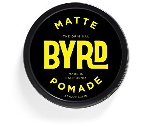 BYRD Matte Pomade - Medium Hold, Matte Finish | Paraben Free, Sulfate Free, Phthalates Free | 3oz