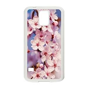 SamSung Galaxy S5 phone cases White Japanese Flower Sakura fashion cell phone cases UYIT2282703