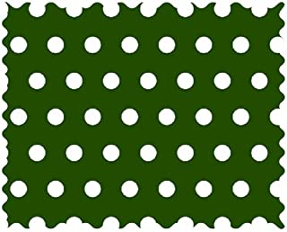 product image for SheetWorld 100% Cotton Percale Fabric by The Yard, Polka Dots Hunter Green, 36 x 44