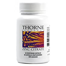 Thorne Research - Zinc Citrate - Well-Absorbed Zinc Supplement - 60 Capsules
