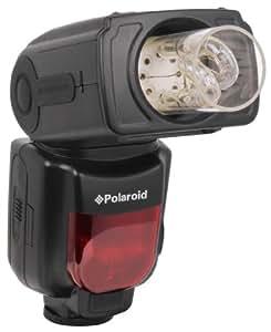 Polaroid PL-135 flash de luz rebotada y giratorio de bombilla sin pantalla para las cámaras digitales SLR Nikon D40, D40x, D50, D60, D70, D80, D90, D100, D200, D300, D3, D3S, D700, D3000, D5000, D3100, D3200, D7000, D5100, D4, D800, D800E, D600, P7700, P7100