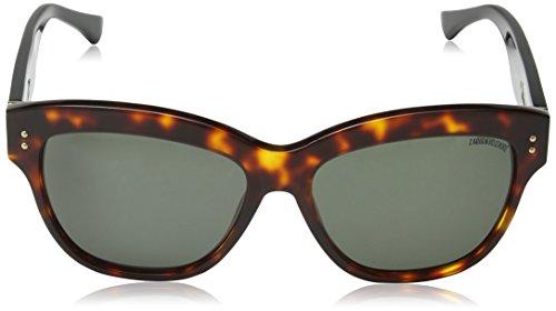 Green Zadig Sol para Red Voltaire Shiny amp; Gafas Havana Mujer de qHxHr0Cw