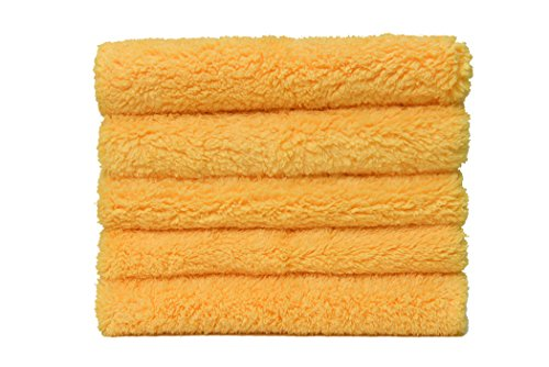 CarCarez Microfiber Car Wash Drying Towels Professional Grade Premium Microfiber Towels for Car Wash Drying 15 in.x 15 in. Pack of 5 - To Clean How Scratches