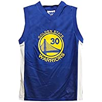 d099f0bbc OuterStuff Stephen Curry Golden State Warriors NBA Youth Blue Road Mesh  Replica Jersey