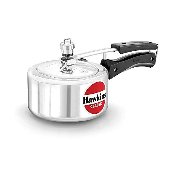Hawkins Classic Pressure Cooker, 1.5 Litre, Silver (CL15)