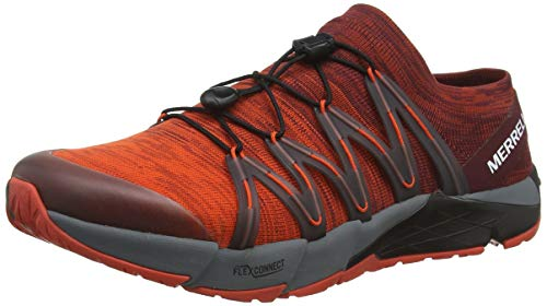 Merrell Bare Access Flex Knit Mens Trail Running Sneakers/Shoes-Red-12.5