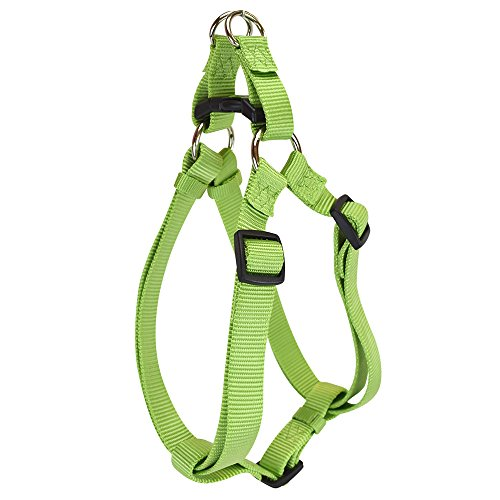 Hamilton Adjustable Easy-On Step-in Style Dog Harness, 3/4-Inch by 20-30-Inch, Medium, Lime Green
