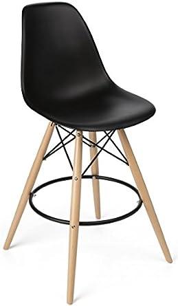 eames molded plastic chair charles displays2go eames molded plastic chair bar stool wood and metal base black finish amazoncom