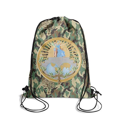 DSFSDCD International Court of Justice Logo Men Adjustable School Drawstring Backpack Sinch Sack