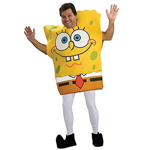 Spongebob Costumes Adult (Rubie's Costume Spongebob Squarepants Pants Dropping Tunic, Multicolored, One Size Costume)