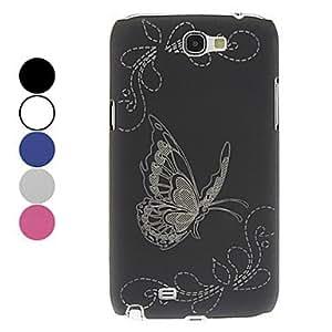 ZXM- Caso duro exquisito del patrón de mariposa para el Samsung Galaxy Note N7100 2 (colores surtidos) , Rosado