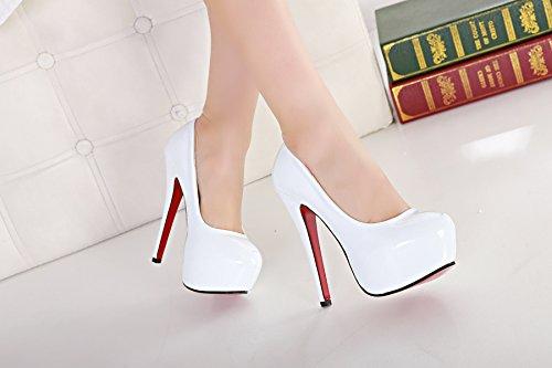 Meijia Women's Extreme High Fashion Pointed Toe Hidden Platform Sexy Stiletto High Heel Pump Shoes Size 3 4 5 6 7 8 9 10 11 White XEKhA