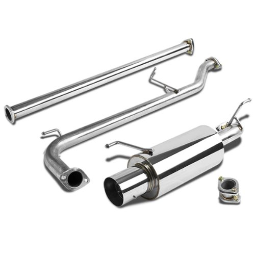DNA Motoring CBEHA98L4 Catback Exhaust System [For 98-02 Honda Accord 4-Cyl] (Exhaust Professional System Honda)