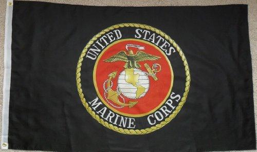 Marine Marines Emblem American banner