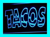 INDIGOS UG - Sign i093-b Mexican Tacos Neon Light sign Handmade Visual Artwork Home Wall Decor Light For Kids Room - Collectables & Gifts & Decoration