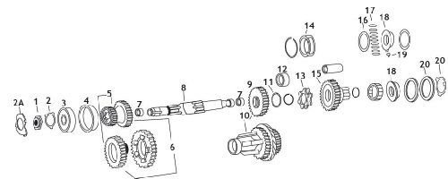Andrews 4-Speed Transmission Mainshaft 208500