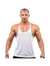 Deer Gary Men Bodybuilding Tank Top Casual Fitness Vest T-Shirt