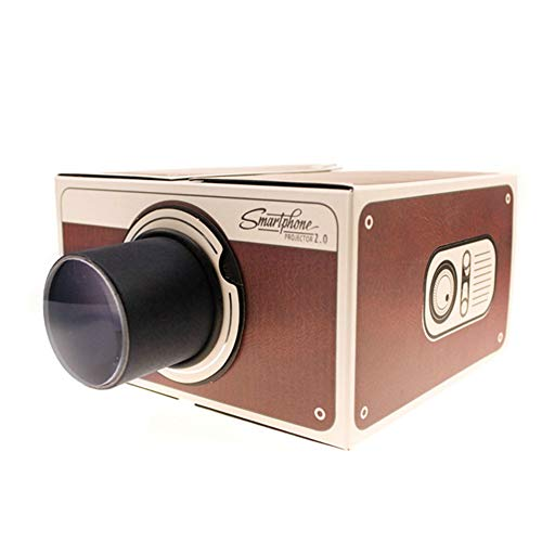 Togethluer Vintage Portable Mini Projector,DIY Cardboard Home Cinema Theater Smart Phone Projector Coffee from Togethluer