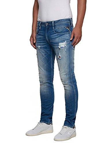 Replay Denim Blue Azul Hombre Anbass Jeans zqHOz4