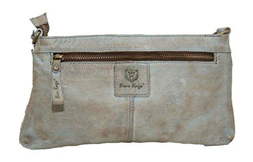 Bear Bags - Cartera de mano de Piel para mujer gris Siel