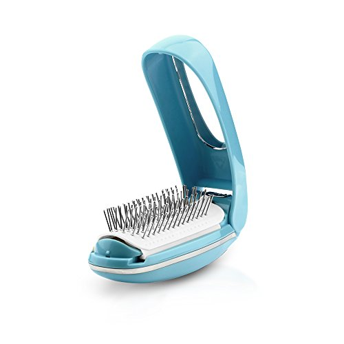 Foldable detangling and massaging hair brush