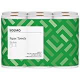 Solimo Basic Flex-Sheets Paper Towels, 6 Value Rolls, White, 148 Sheets per Roll