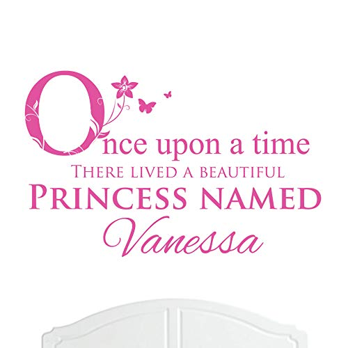 A Beautiful Princess Named Vanessa Large Once Upon a Time Wall Sticker/Decal Bed Room Art Girl/Baby