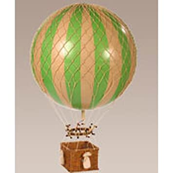 Jules Verne Balloon In Green