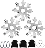 18-in-1 Snowflake Multitool-Silver
