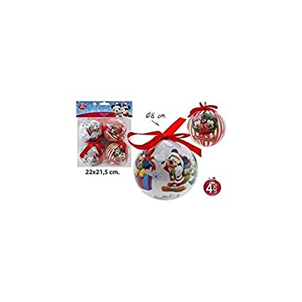 Mickey And Minnie Mouse Christmas Tree Decorations.Disney Mickey Minnie Mouse Christmas Baubles Set Of 4 Christmas Tree Decoration Diameter 8 Cm By Mickey Minnie Mouse