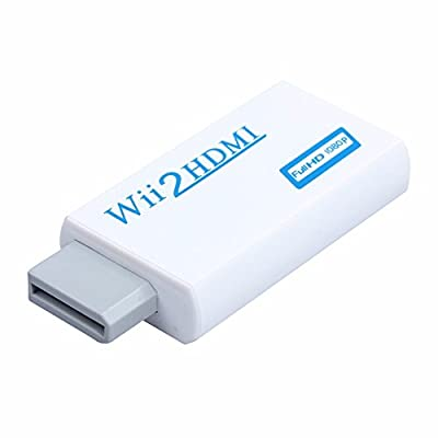 Ciecoo White Full HD 480P/720P/1080P Output Upscaling 3.5mm Audio Video Output For Wii to HDMI Wii2HDMI Adapter Converter Supports All Wii Display Modes from Ciecoo