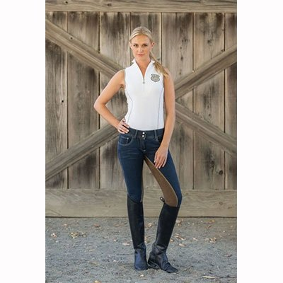 (Goode Rider Ideal Show Tank Navy Stripe (L))