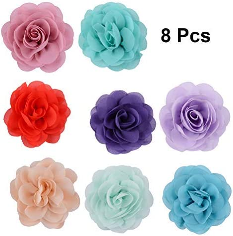 Dog Collar Flower Pet Collar Charms for Female Girl Cats Dogs Christmas Valentines Wedding Costumes Grooming Attachment Pet Collar Accessory with Adjustable Elastic Strap Segarty 15 PCS Dog Flowers