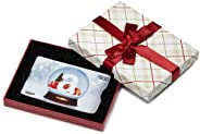 Amazon.ca Gift Card in a Plaid Gift Box (Holiday Globe Card Design)
