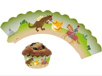 12 Ritter U0026 Drache   Cupcake Deko Banderolen Von DH Konzept //  Muffinförmchen Muffin