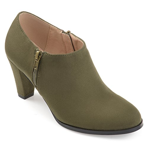 Cut Journee Low Olive Comfort Sole Collection Booties Womens Ankle rXqpw7XO