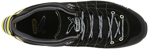 SALEWA Mtn Trainer GTX-Pelle, Stivali da Escursionismo Uomo Nero (Black/Acid Lemon 0916)