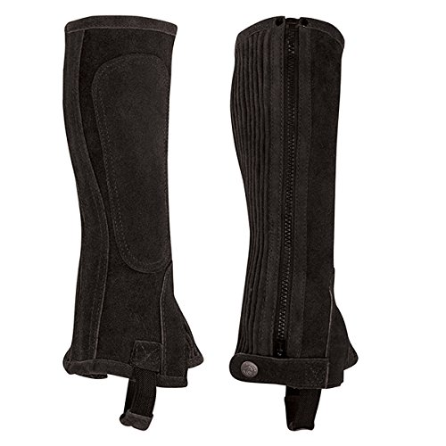 Chaps English Riding - Perri's Zipper Adult Half Chap, Black, Medium