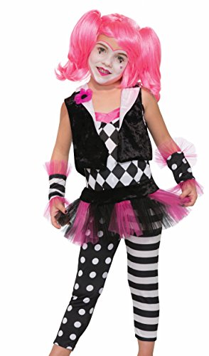 Forum Novelties Kids Lil' Trixie The Clown Costume, Multicolor, (Black And White Clown Costumes)