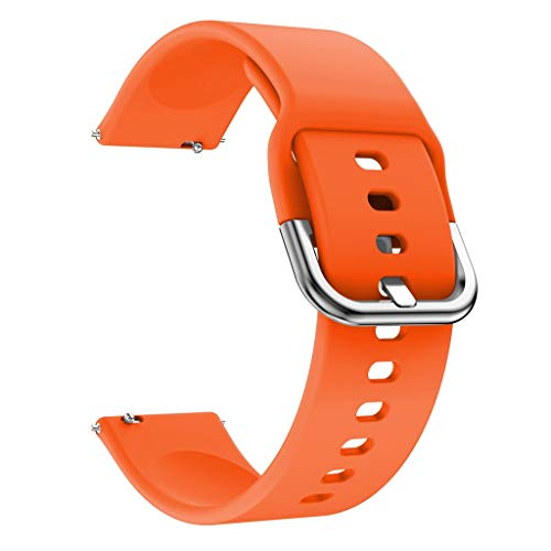 Price comparison product image MChoiceSilicone Replacement Watch Band Straps for Xiaomi Huami Amazfit Bip Youth Watch (Orange)