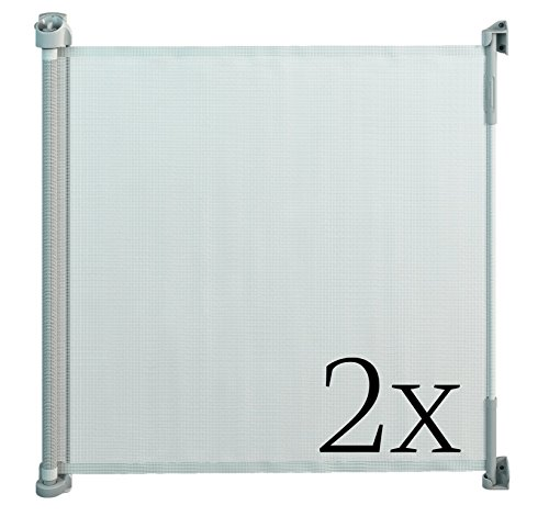 Gaterol Active Lite White Double Pack - Retractable Safety Gate - Super Safe 36.6'' Tall and Opens up to 55'' by Gaterol