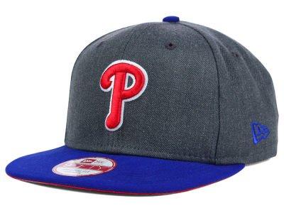 100% Authentic Brand New MLB Philadelphia Phillies, ' 2T Action ' Graphite Hat / Dark Royal/Red Bill, Original Fit SnapBack