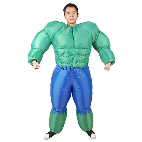 yunzhenbusiness Adult Muscle Man Popeye The Sailor Man Inflatable Suits Halloween Costume (Muscle (Inflatable Muscle Man Costume)