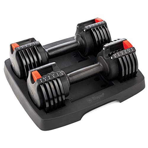 LifePro PowerUp Adjustable Weights Dumbbells Set – Home Workout Equipment for Weight Lifting, Strength Training, Muscle…