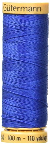 Natural Cotton Thread 110 Yards-Royal Blue (Royal Machines)