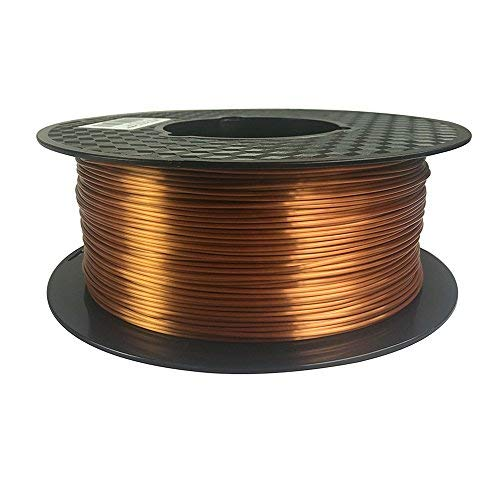 Silk Copper 3D Printer Filament PLA 1.75 mm 1 KG (2.2 LBS) Shine Silky Shiny Copper Like PLA CC3D ZHUOPU