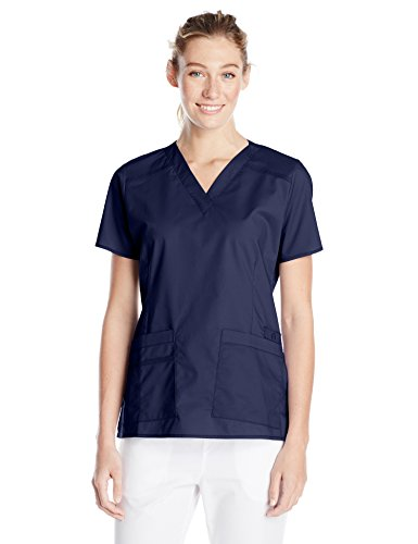 (WonderWink Women's Only Tops, Navy Solid 3X-Large)