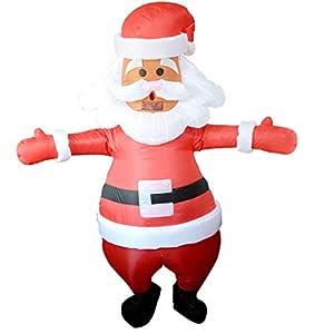 Ropa inflable de Papá Noel, disfraz inflable de Papá Noel, muñeco ...